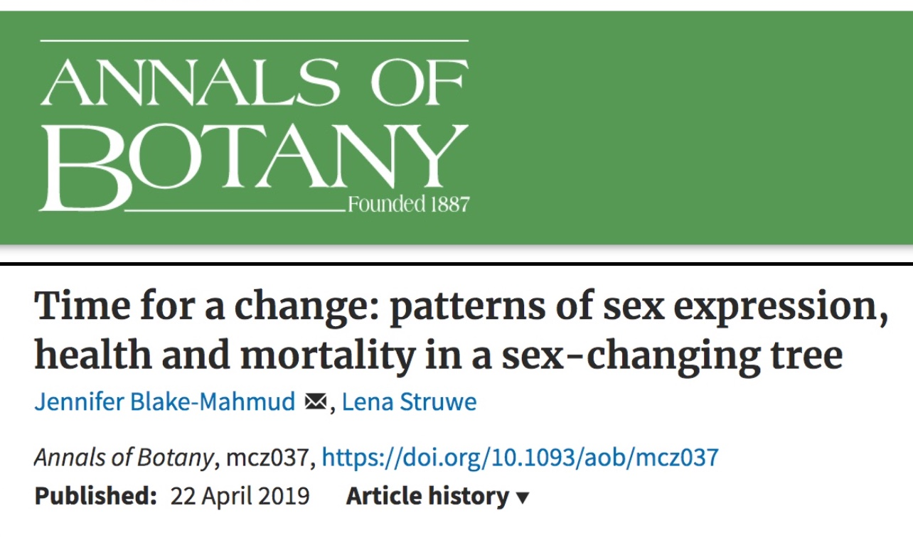 7cd8d93737 EXCERPTS: ... Male-dominated sex ratios occurred consistently across study  sites and the 4 years that sex expression was monitored.