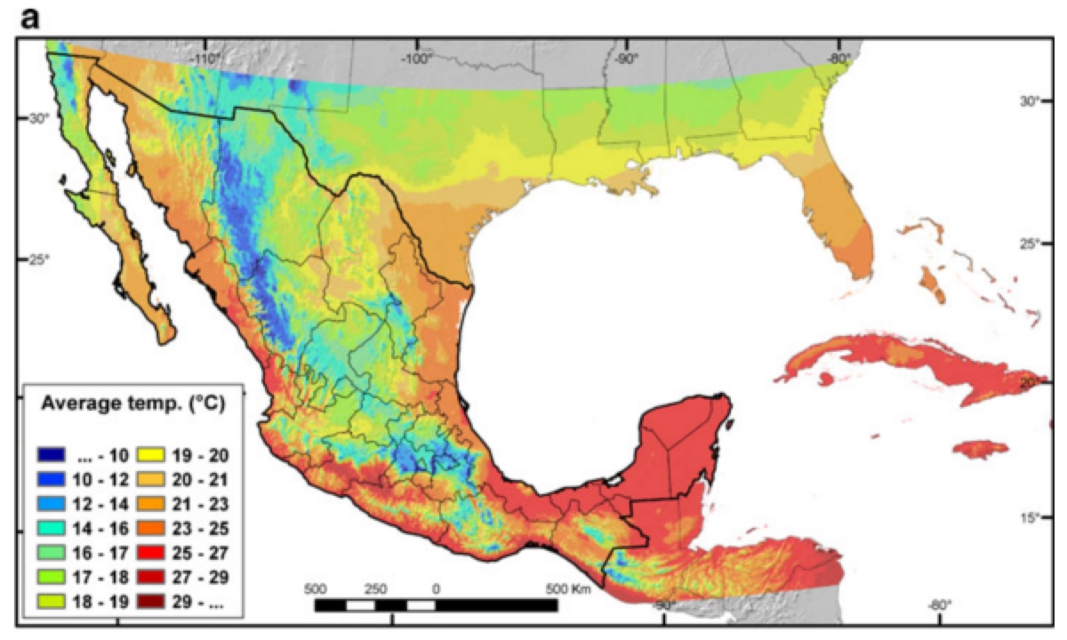 Assisted Migration Assisted Colonization Managed Relocation - Mexico climate map