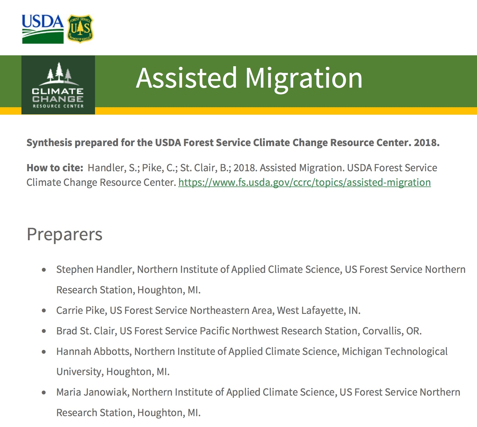 Assisted Migration (Assisted Colonization, Managed